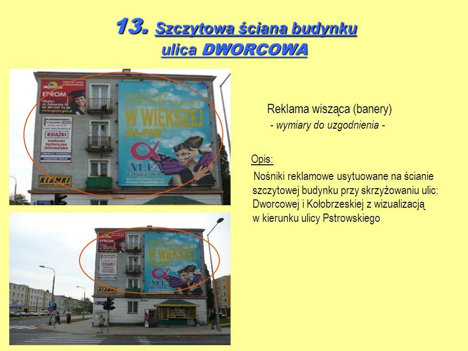 13. Szczytowa ściana budynku ulica DWORCOWA