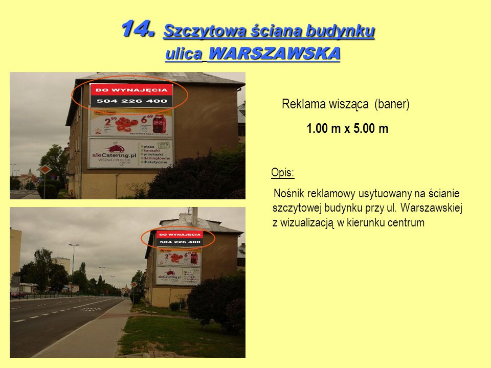 14. Szczytowa ściana budynku ulica WARSZAWSKA