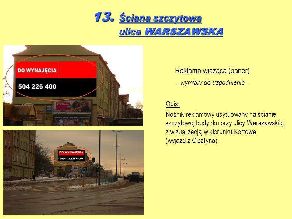 13. Ściana szczytowa ulica WARSZAWSKA