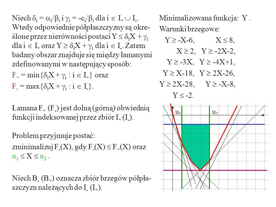 F+ = min{iX + i : i  I+} oraz F- = max{iX + i : i  I-}.