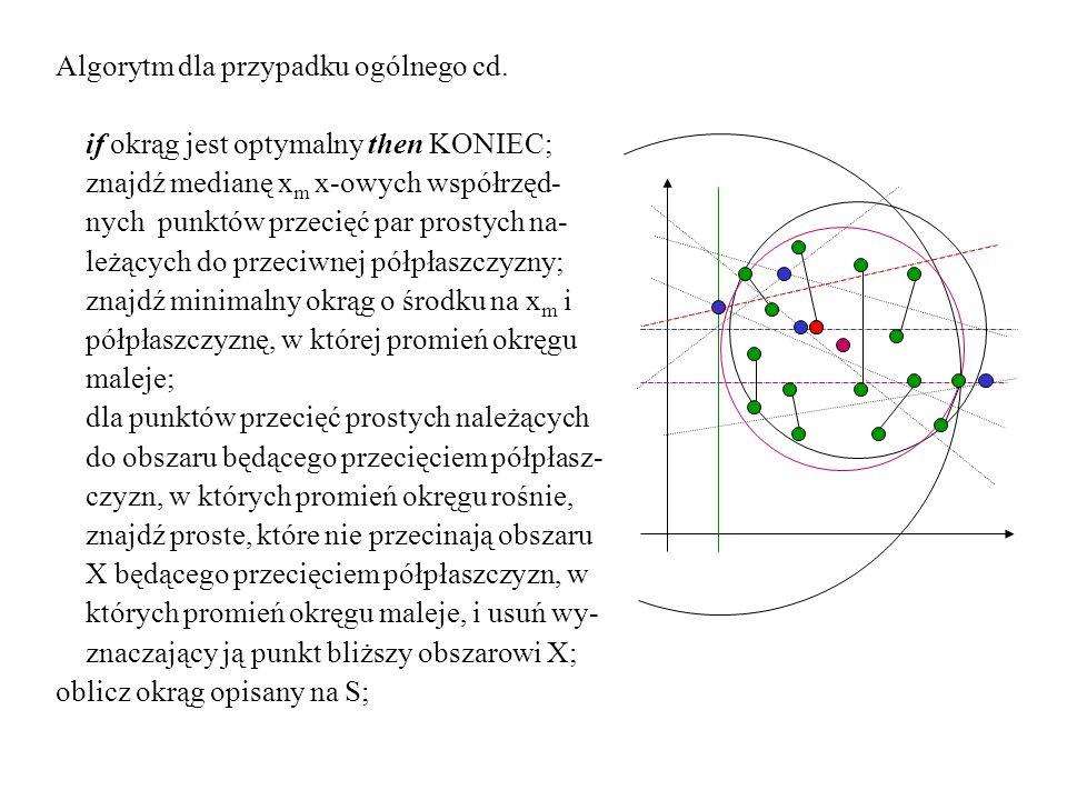 Algorytm dla przypadku ogólnego cd.