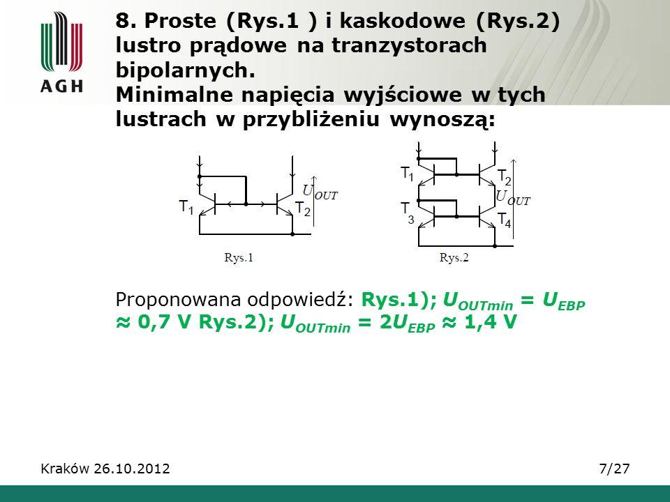 8. Proste (Rys. 1 ) i kaskodowe (Rys