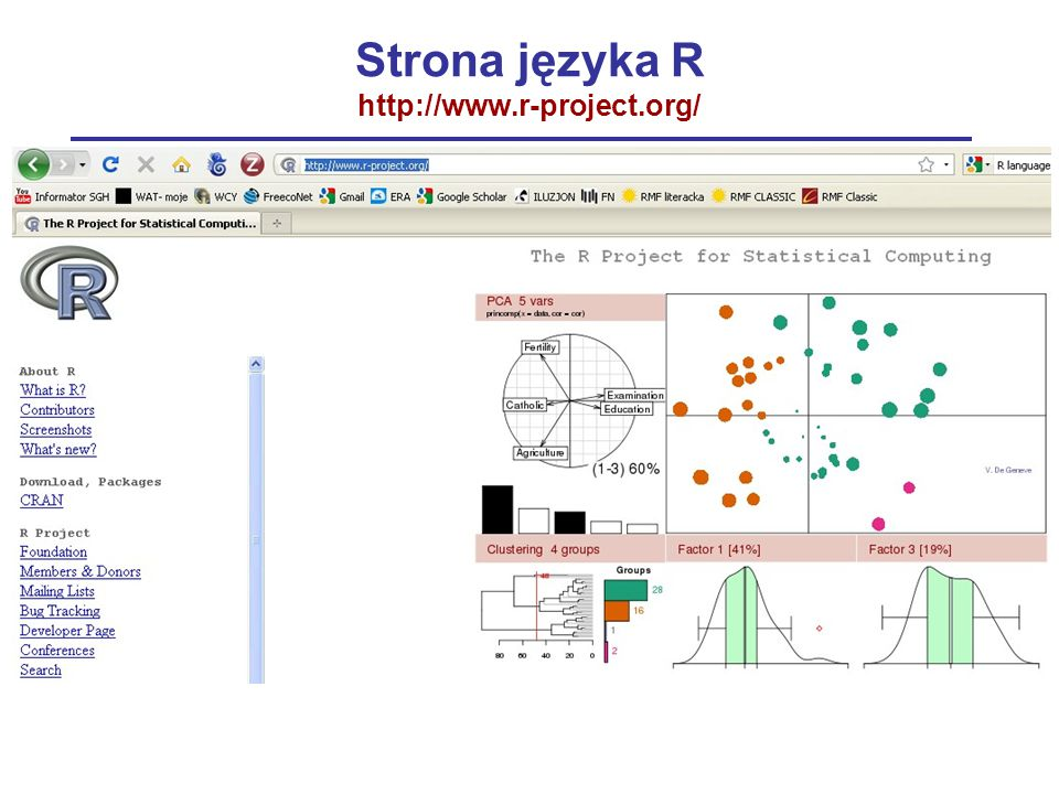Strona języka R http://www.r-project.org/