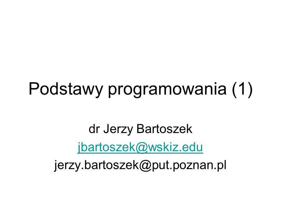 Podstawy programowania (1)