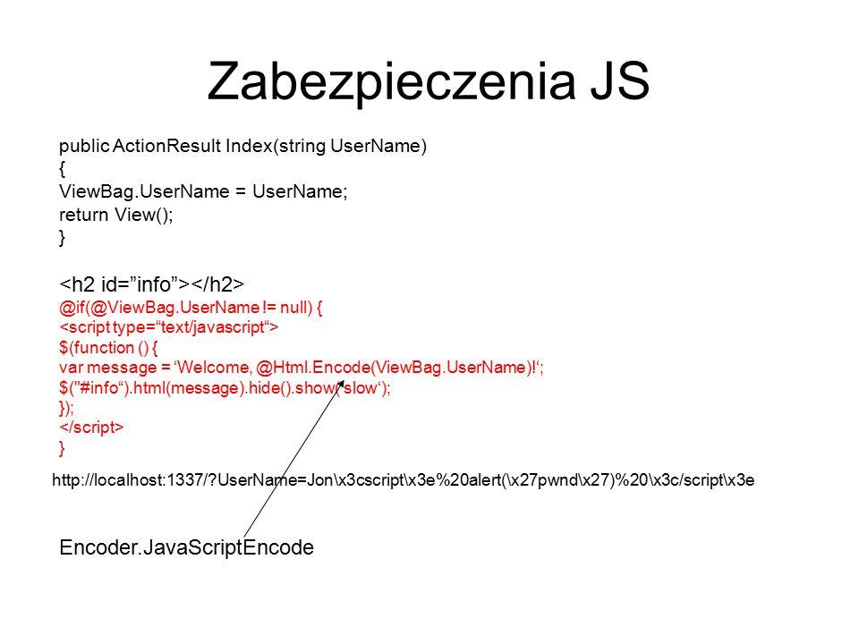 Zabezpieczenia JS <h2 id= info ></h2>