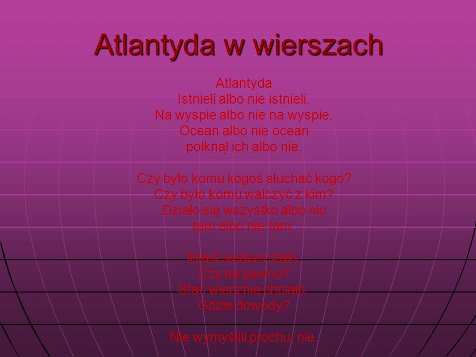 Atlantyda w wierszach Atlantyda