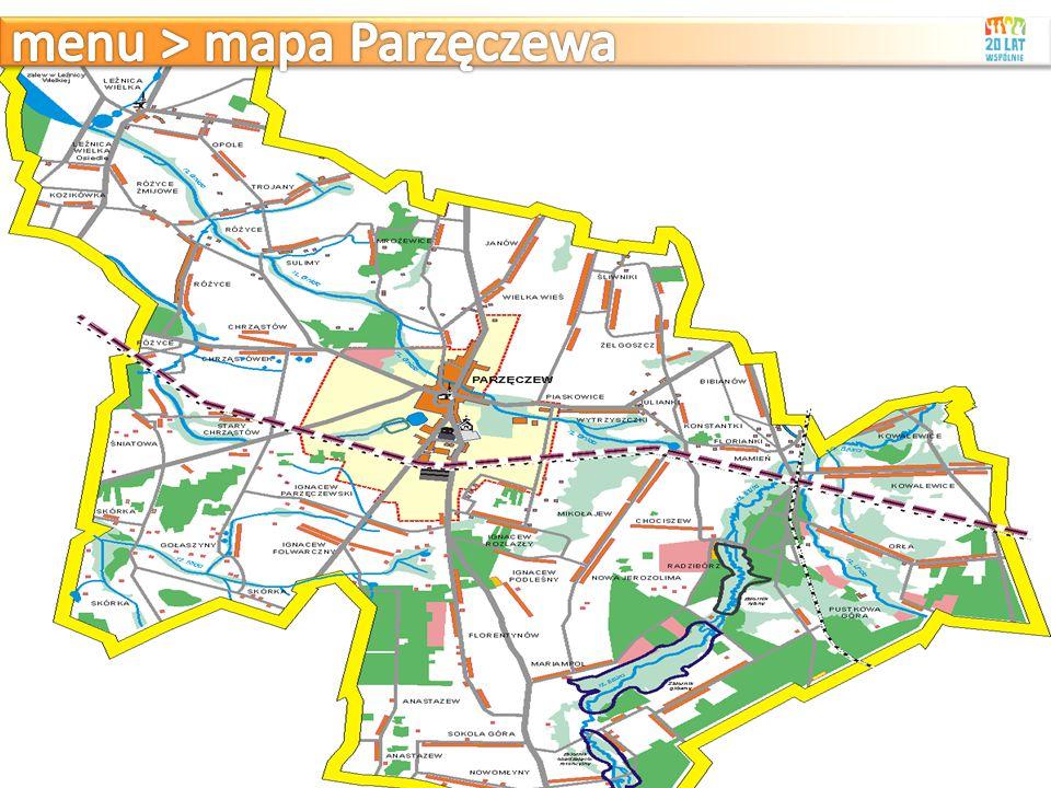 menu > mapa Parzęczewa
