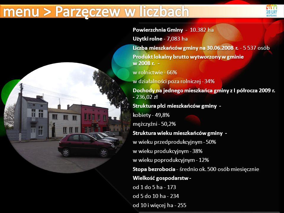menu > Parzęczew w liczbach