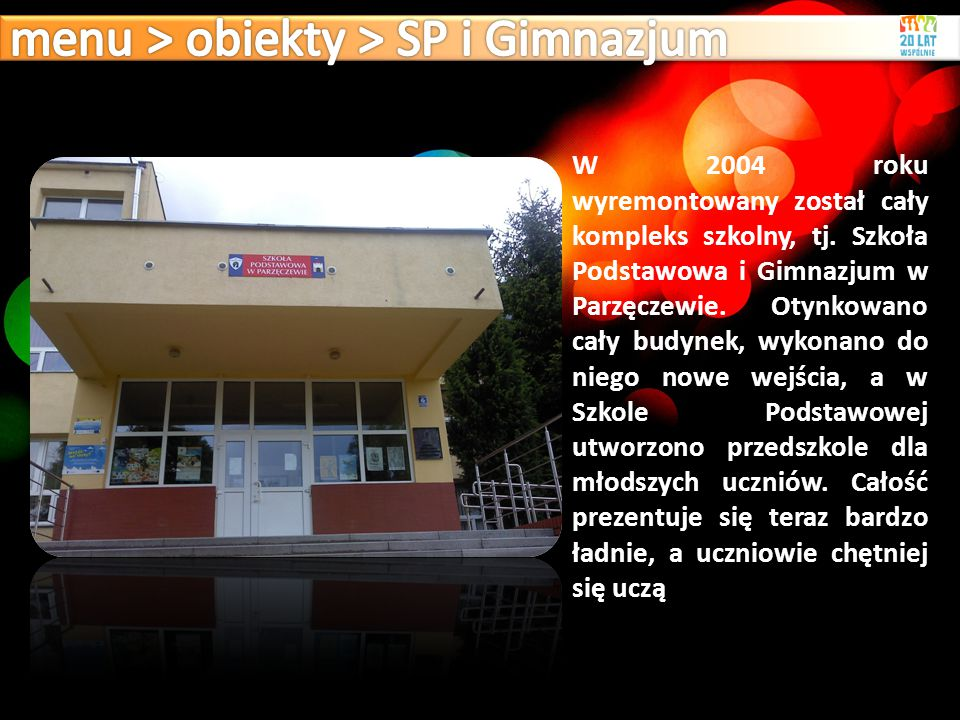 menu > obiekty > SP i Gimnazjum