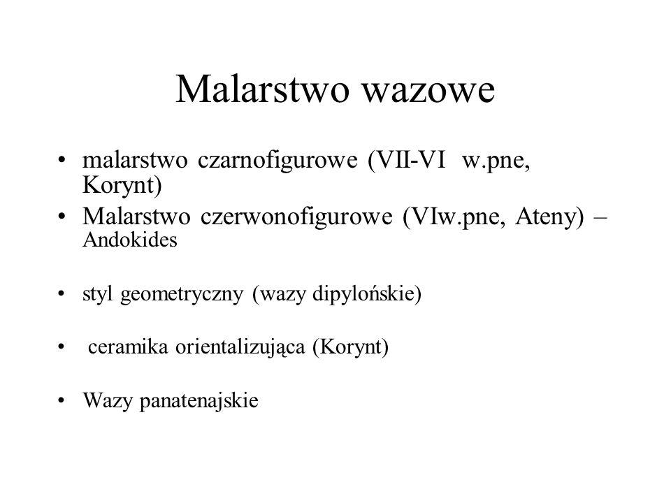 Malarstwo wazowe malarstwo czarnofigurowe (VII-VI w.pne, Korynt)