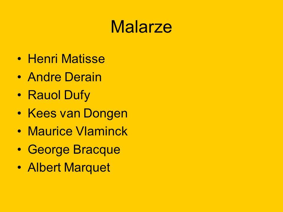 Malarze Henri Matisse Andre Derain Rauol Dufy Kees van Dongen