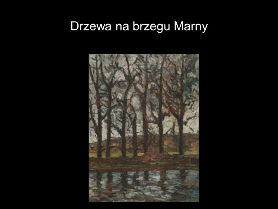 Drzewa na brzegu Marny