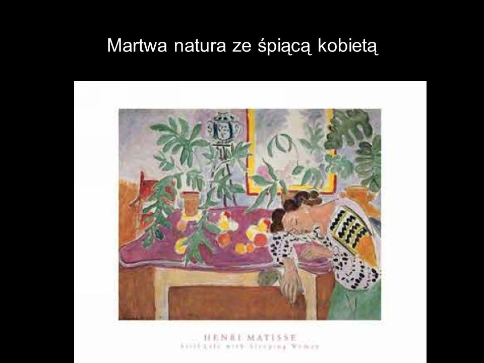 Martwa natura ze śpiącą kobietą