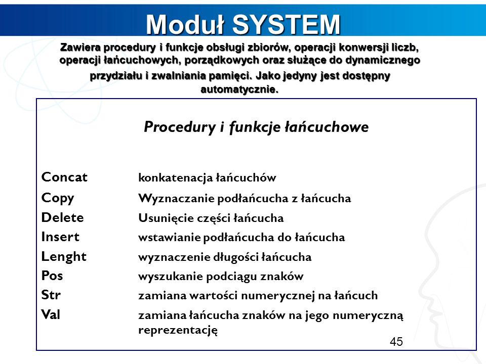 Procedury i funkcje łańcuchowe