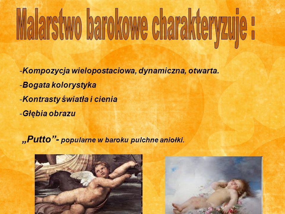 Malarstwo barokowe charakteryzuje :
