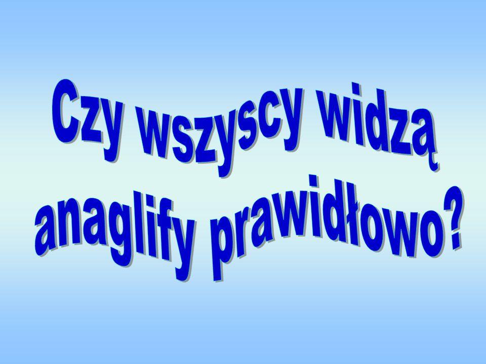 Czy wszyscy widzą anaglify prawidłowo