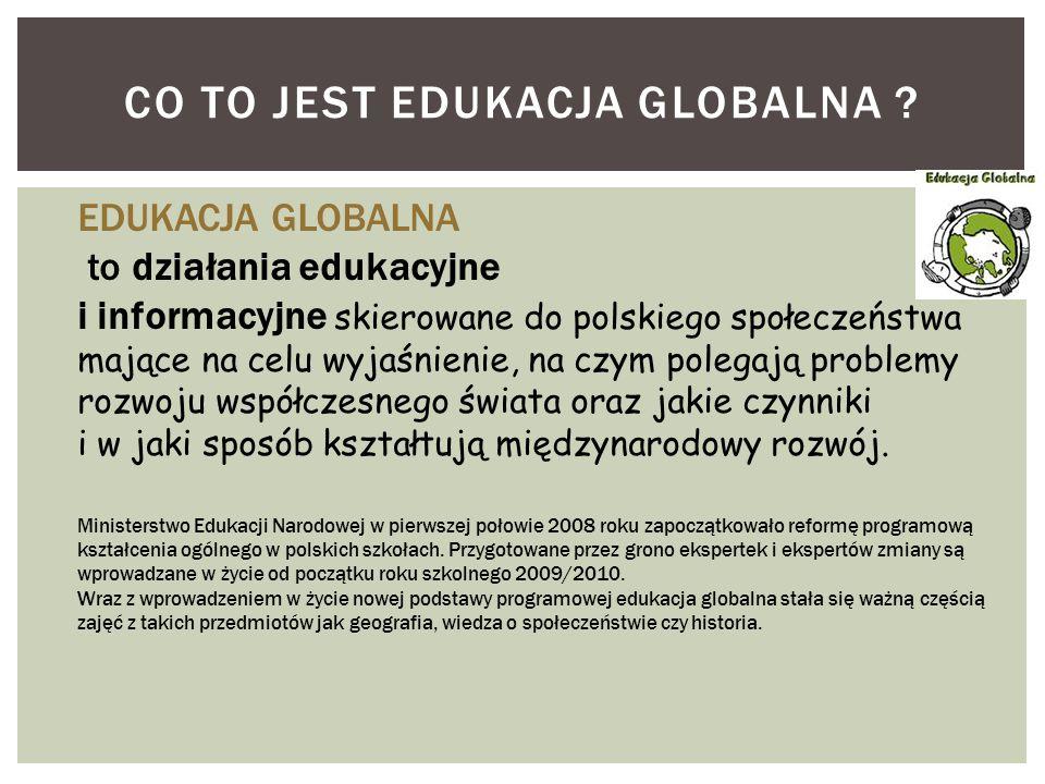 CO TO JEST EDUKACJA GLOBALNA