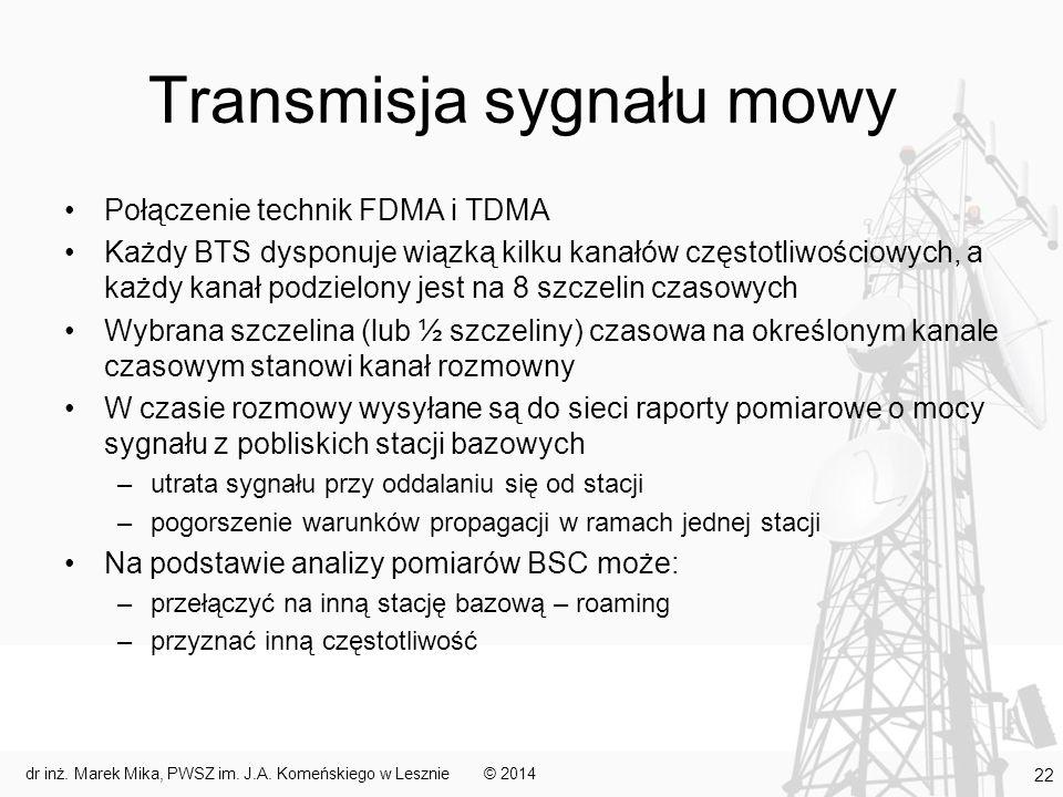Transmisja sygnału mowy