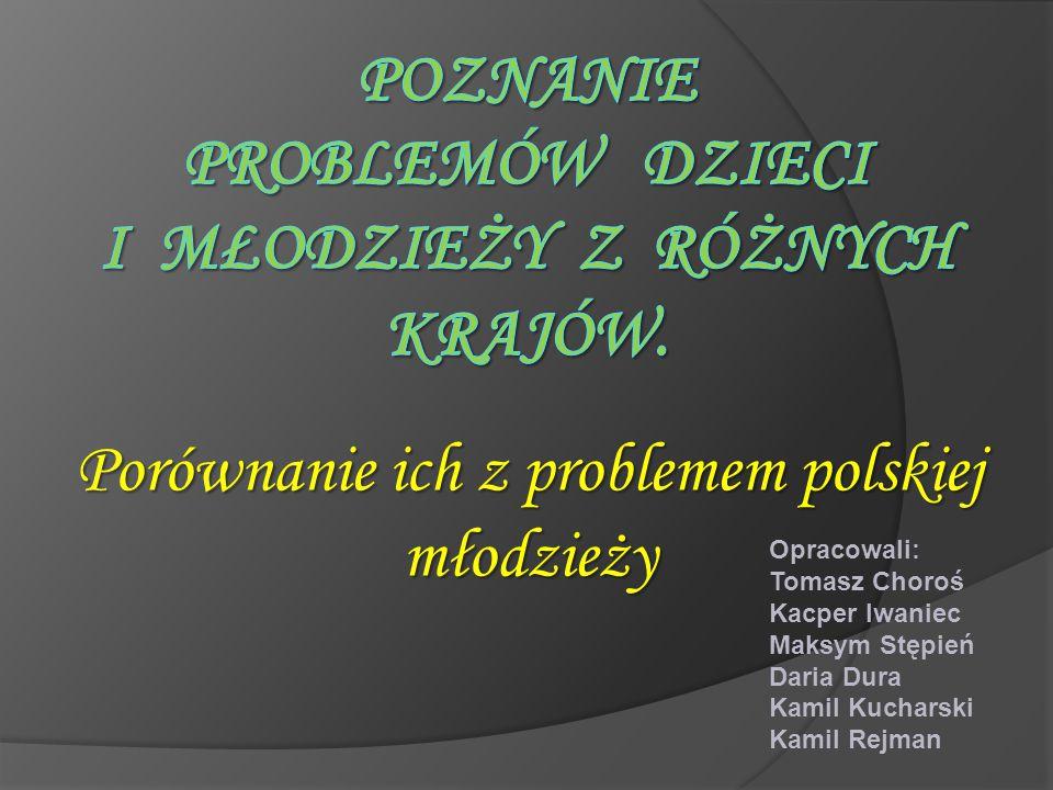 Poznanie problemów dzieci i młodzieży z różnych krajów.