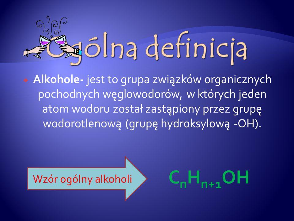 Ogólna definicja CnHn+1OH