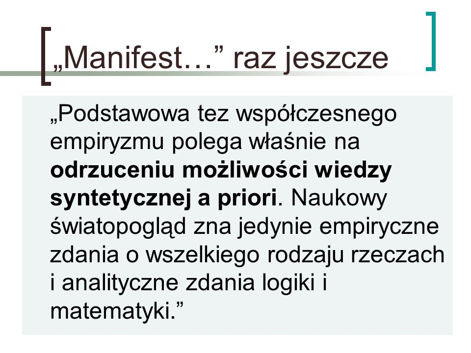 """""""Manifest… raz jeszcze"""