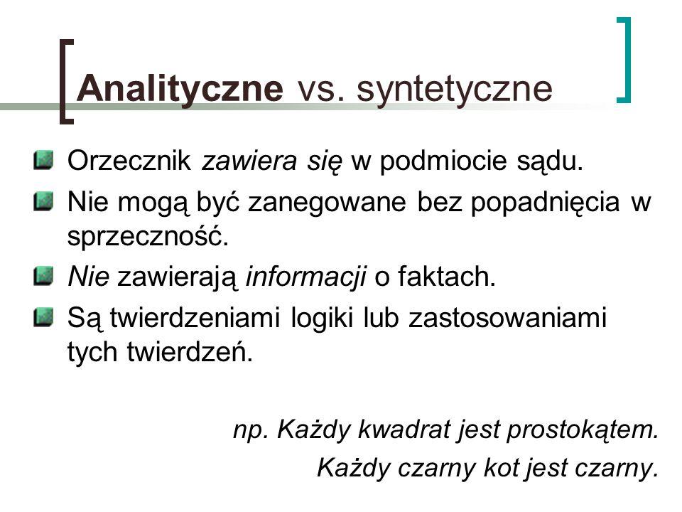 Analityczne vs. syntetyczne