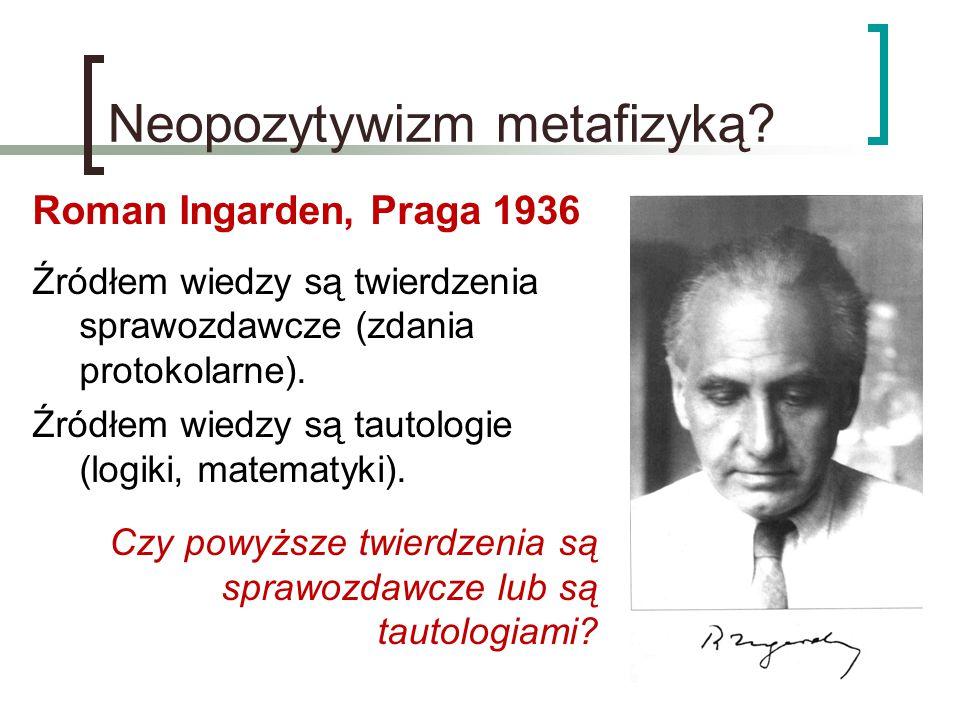Neopozytywizm metafizyką