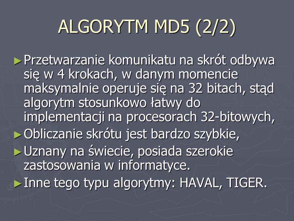 ALGORYTM MD5 (2/2)