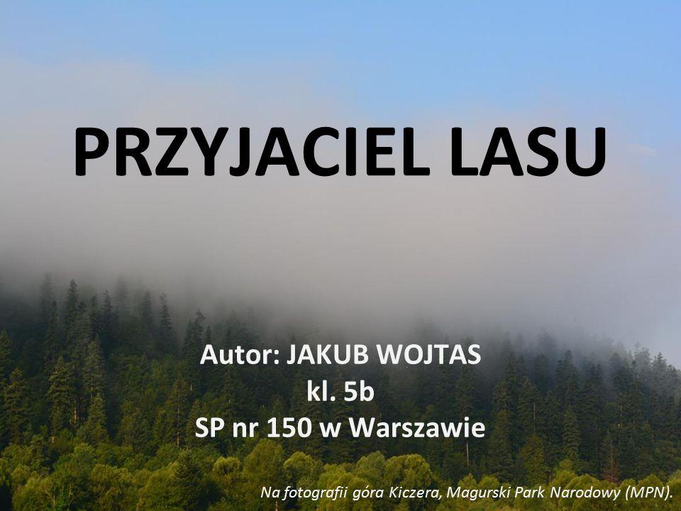 PRZYJACIEL LASU Autor: JAKUB WOJTAS kl. 5b SP nr 150 w Warszawie