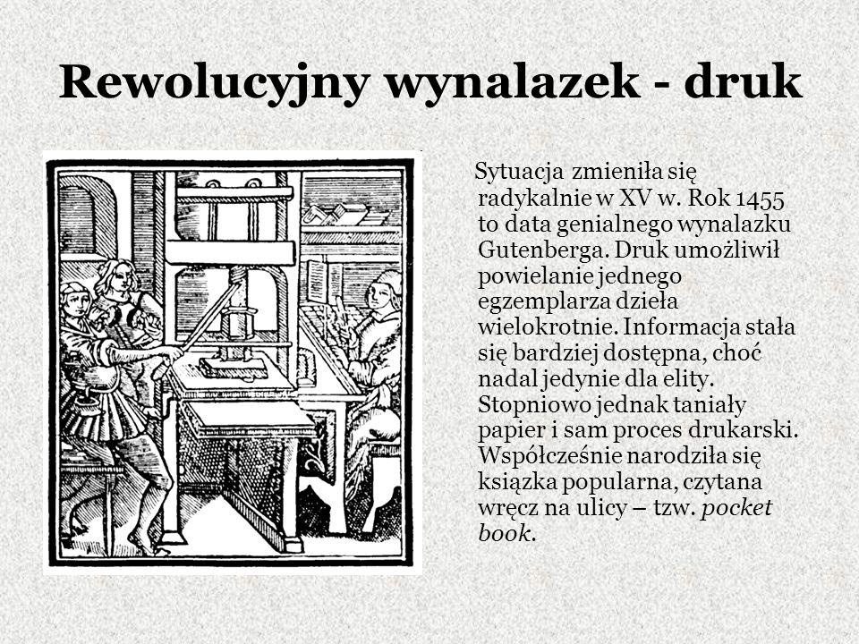 Rewolucyjny wynalazek - druk