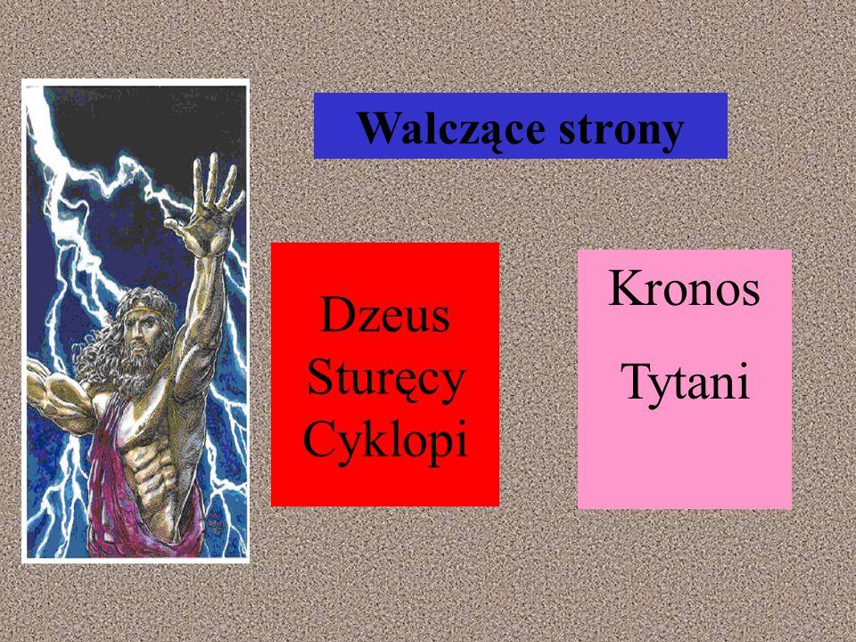 Walczące strony Dzeus Sturęcy Cyklopi Kronos Tytani