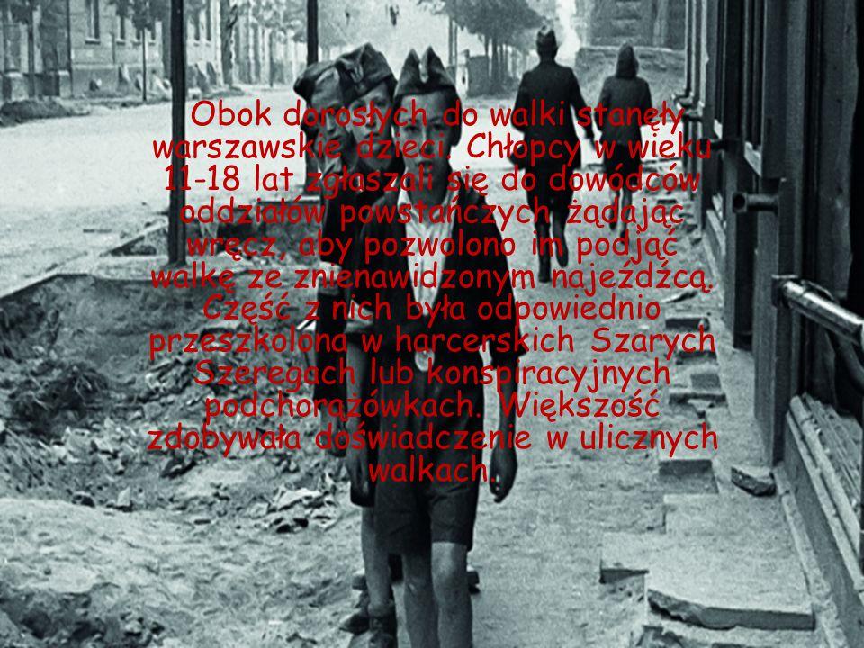 Obok dorosłych do walki stanęły warszawskie dzieci