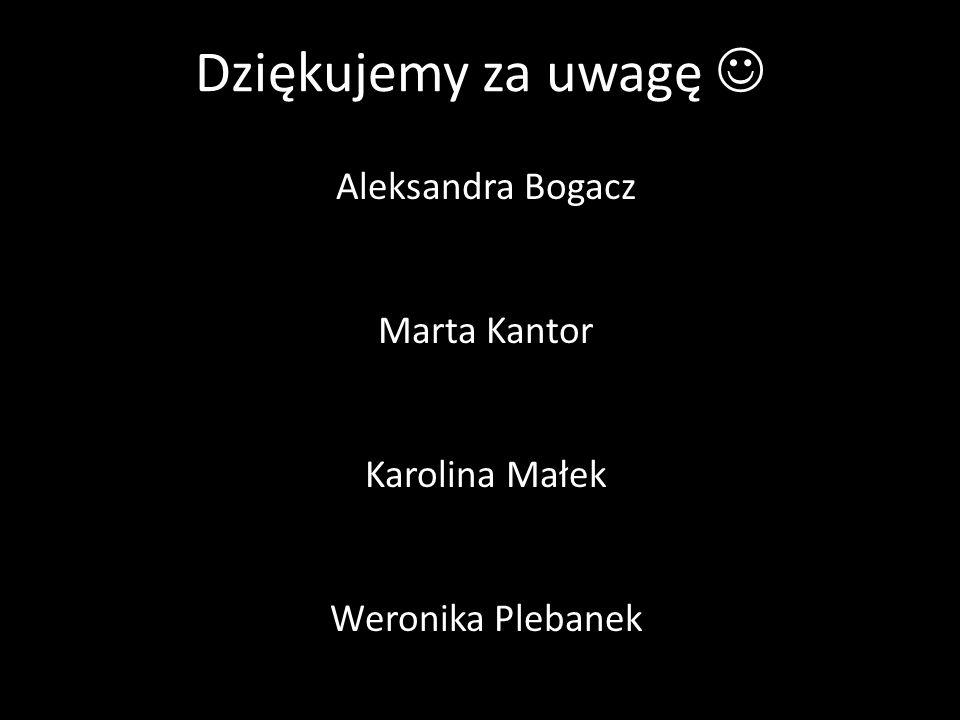 Aleksandra Bogacz Marta Kantor Karolina Małek Weronika Plebanek
