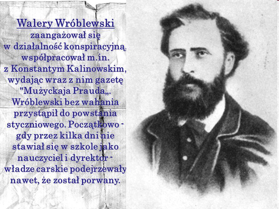 Walery Wróblewski zaangażował się