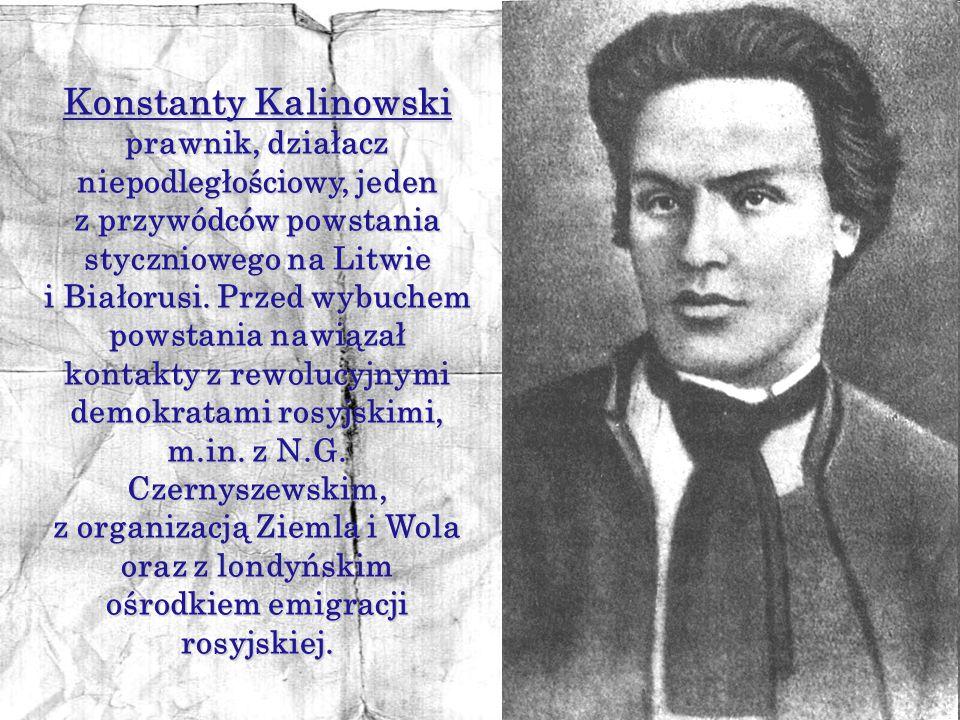 Konstanty Kalinowski prawnik, działacz niepodległościowy, jeden