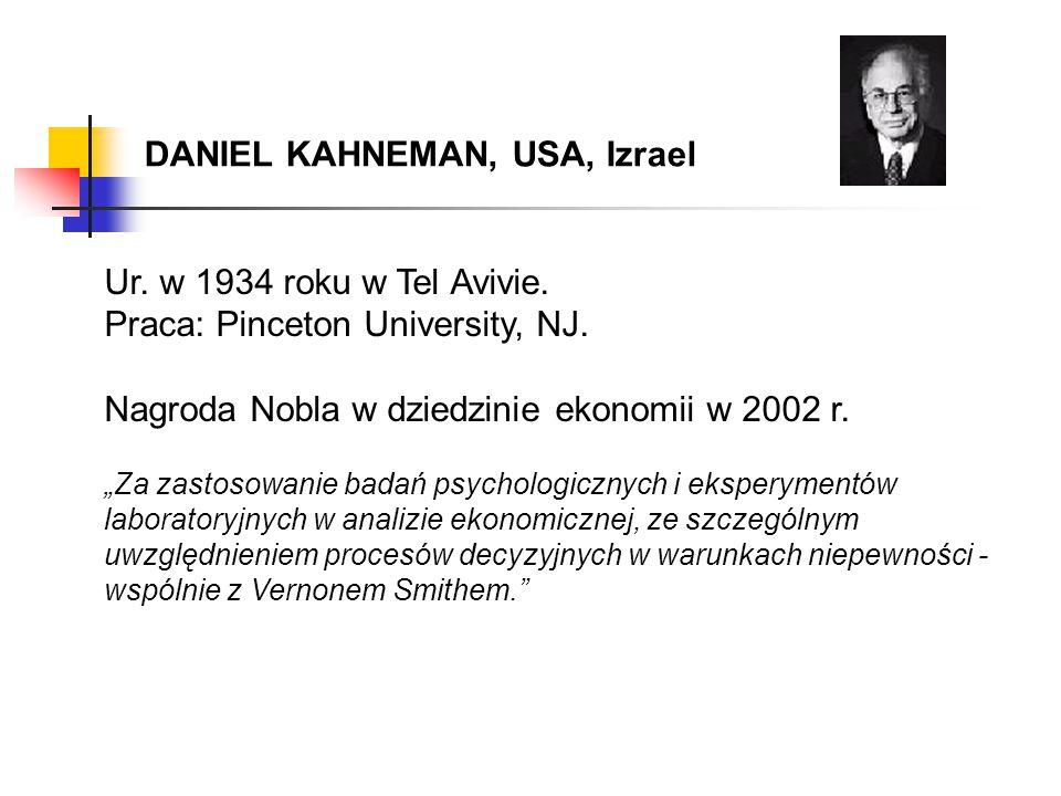 DANIEL KAHNEMAN, USA, Izrael