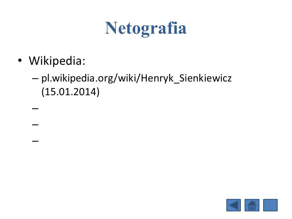 Netografia Wikipedia: