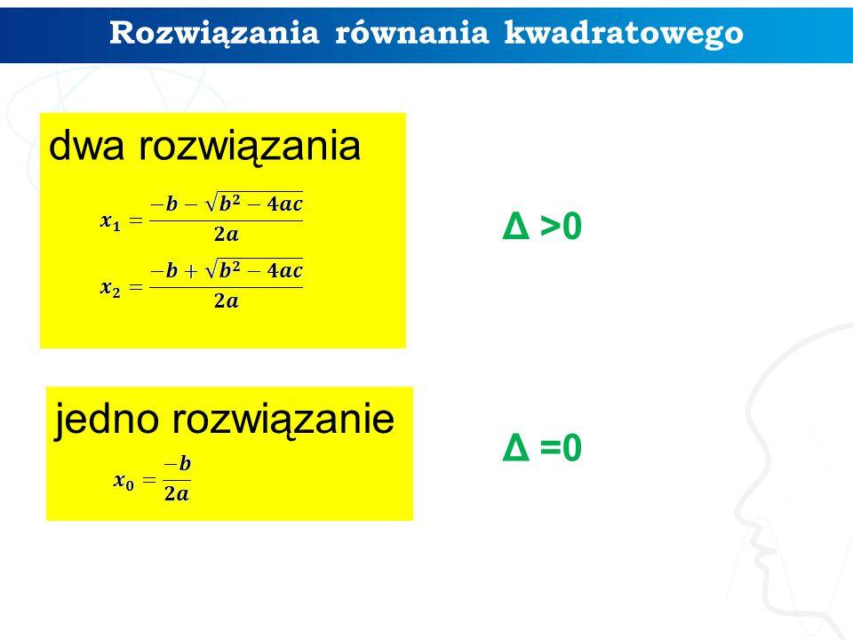 Rozwiązania równania kwadratowego