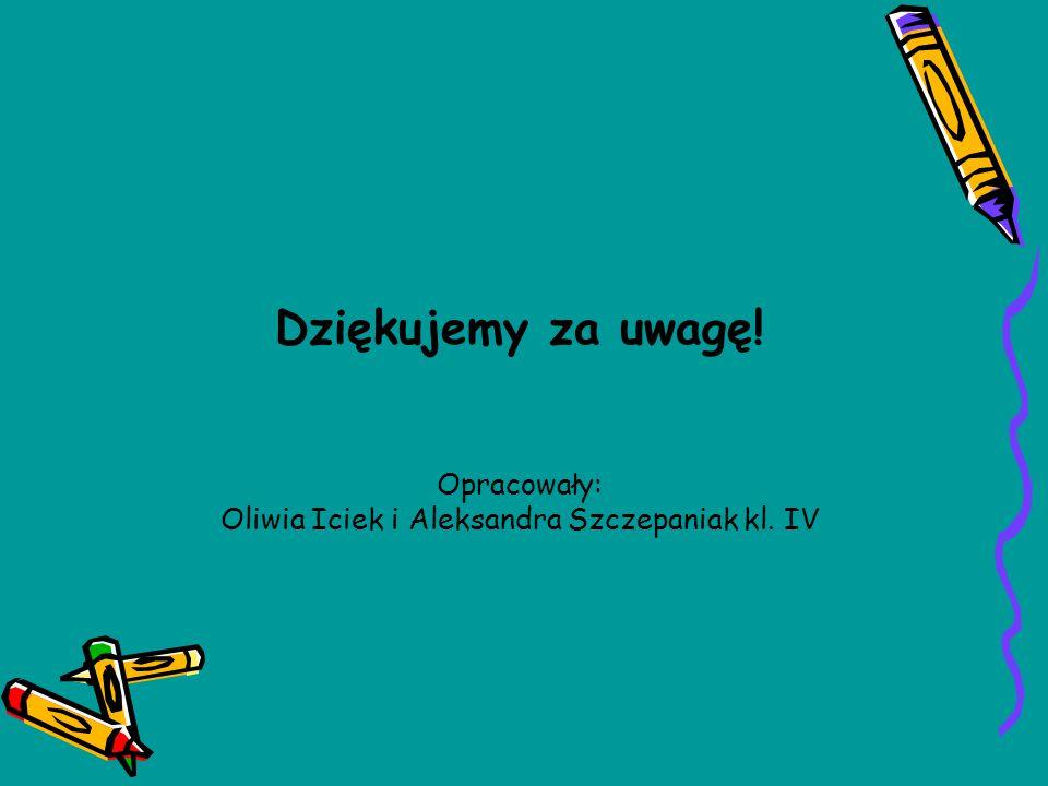 Oliwia Iciek i Aleksandra Szczepaniak kl. IV