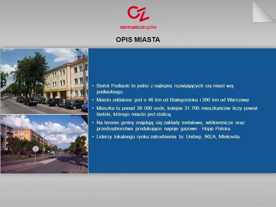 OPIS MIASTA Bielsk Podlaski to jedno z najlepiej rozwijających się miast woj. podlaskiego.