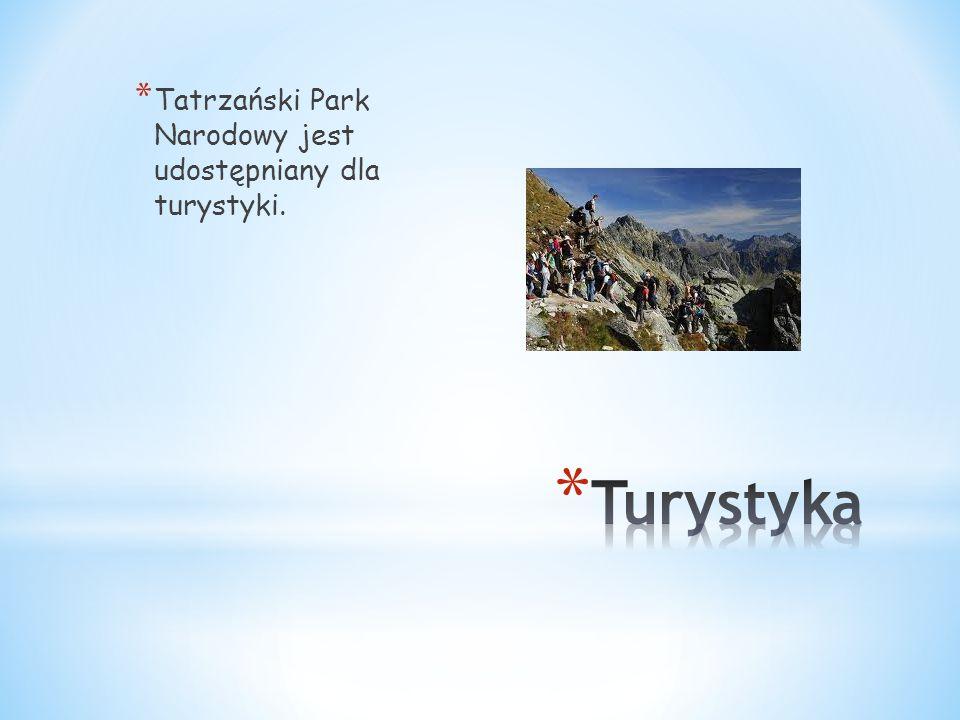 Tatrzański Park Narodowy jest udostępniany dla turystyki.