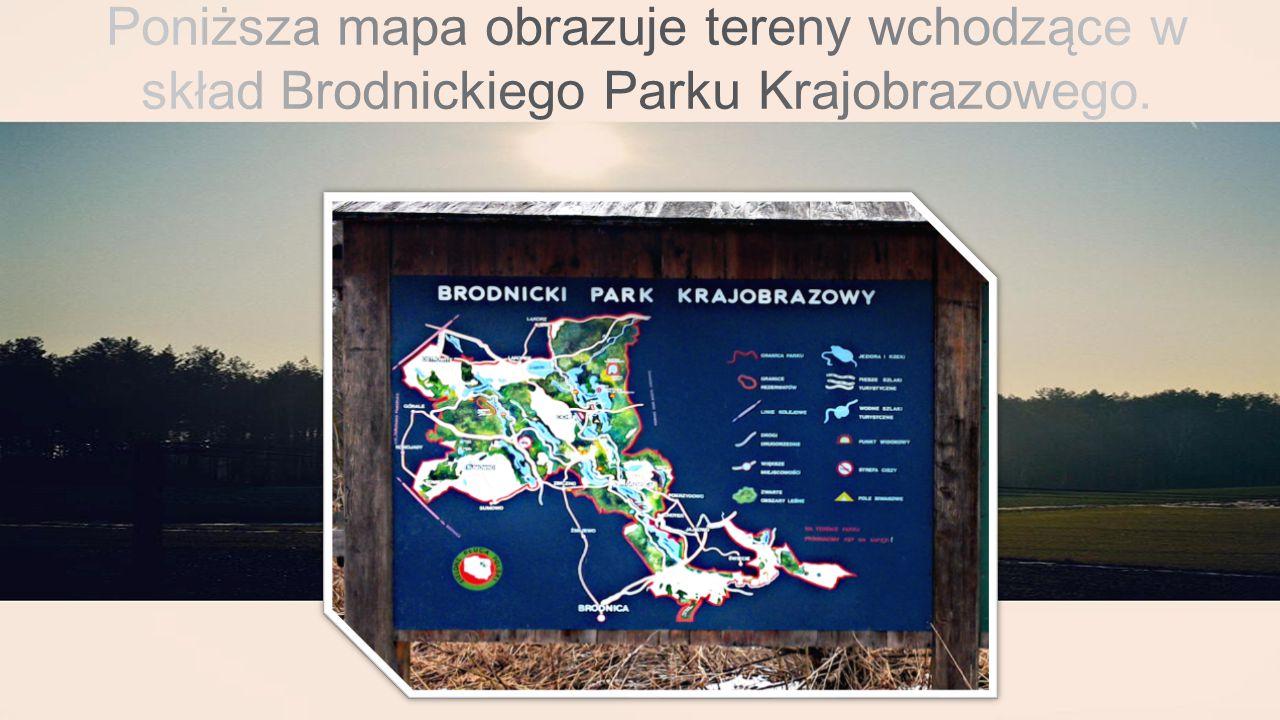 Poniższa mapa obrazuje tereny wchodzące w skład Brodnickiego Parku Krajobrazowego.