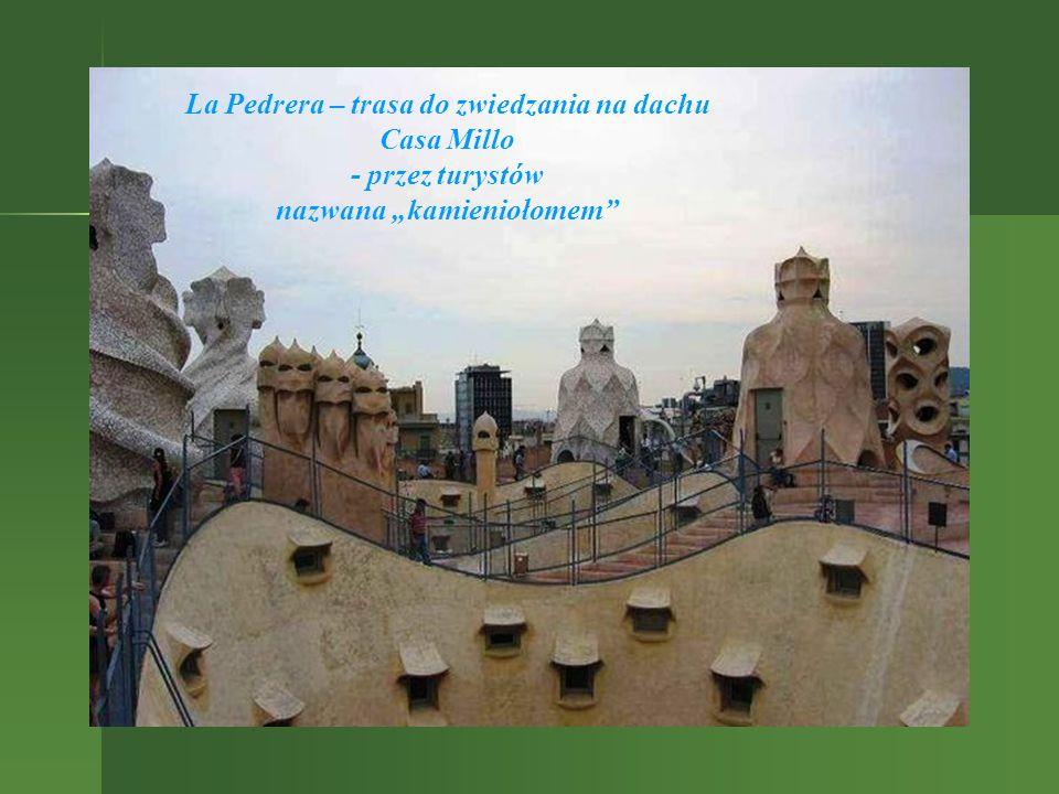 """La Pedrera – trasa do zwiedzania na dachu nazwana """"kamieniołomem"""