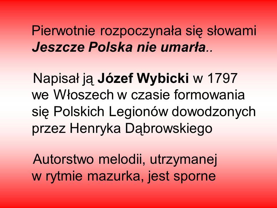 Autorstwo melodii, utrzymanej w rytmie mazurka, jest sporne