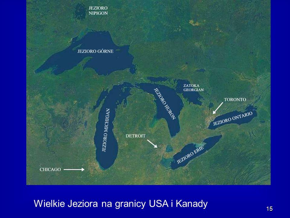 Wielkie Jeziora na granicy USA i Kanady