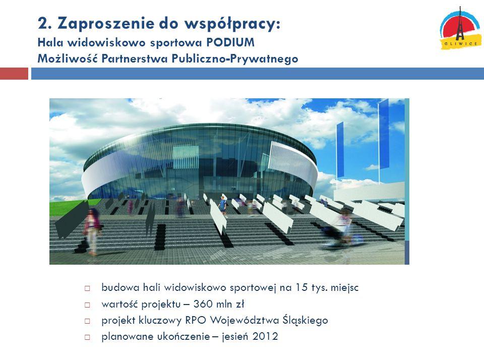 2. Zaproszenie do współpracy: Hala widowiskowo sportowa PODIUM Możliwość Partnerstwa Publiczno-Prywatnego