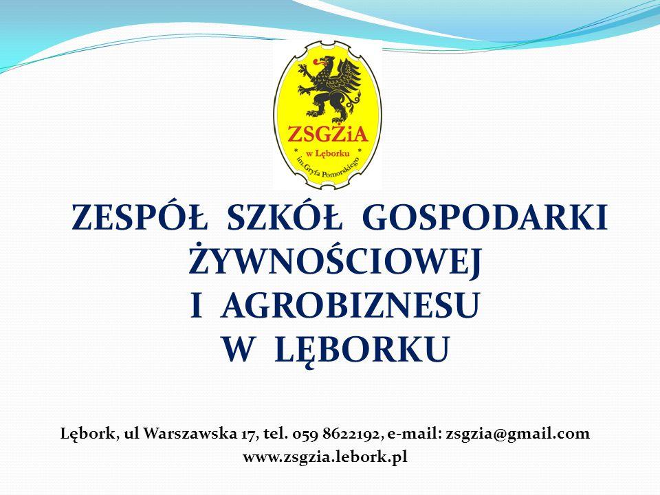 Lębork, ul Warszawska 17, tel. 059 8622192, e-mail: zsgzia@gmail.com