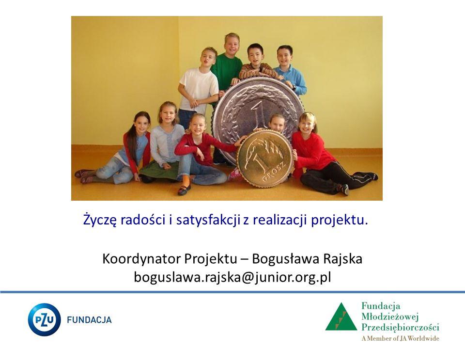 Koordynator Projektu – Bogusława Rajska