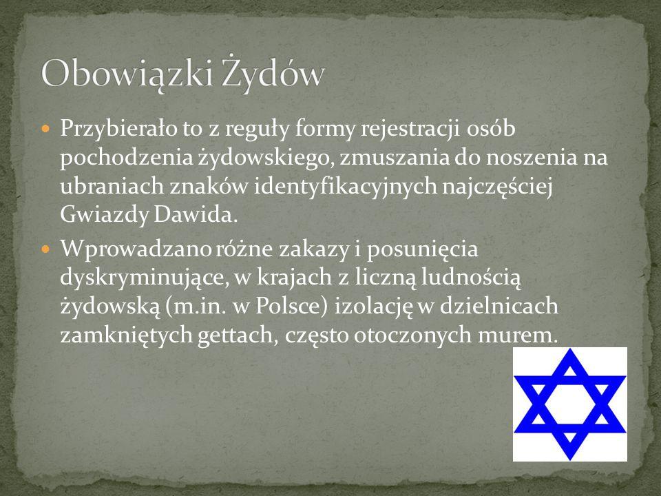 Obowiązki Żydów
