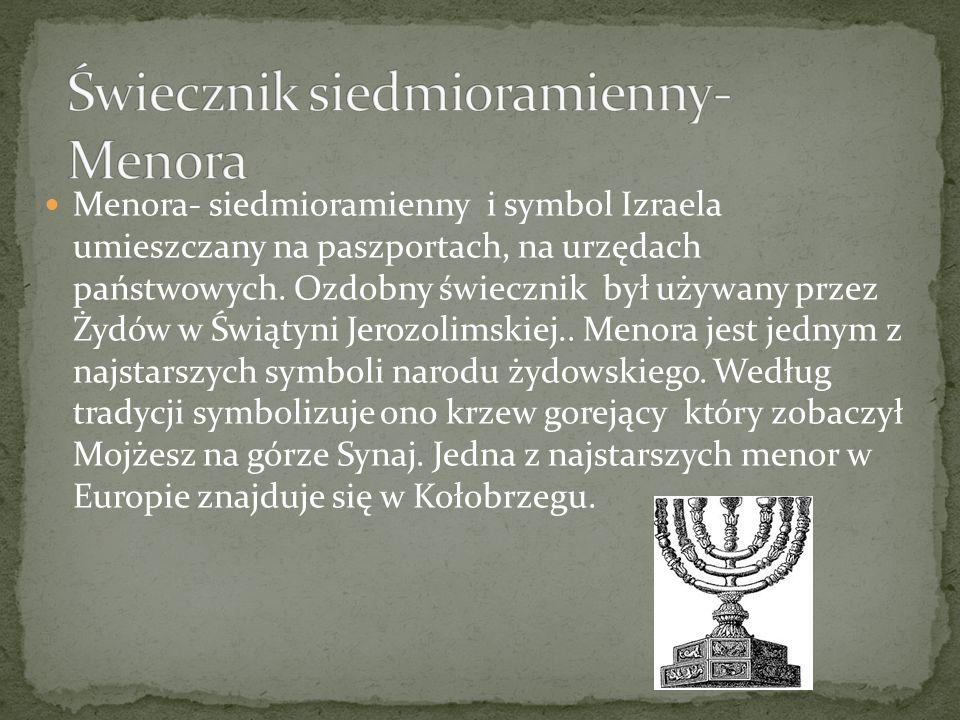 Świecznik siedmioramienny- Menora